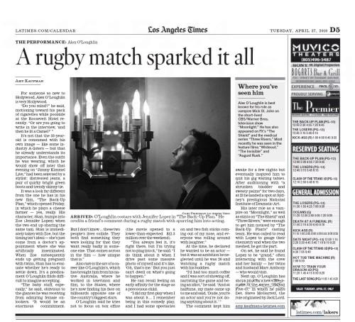 LA Times - 27 April 2010