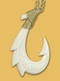 Hawaiian-Bone-Fish-Hook-Necklace
