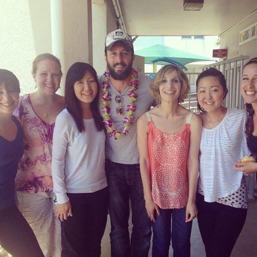 Ohana Arts staff with Alex O'Loughlin! #h50 #ohanaarts #ohanaarts2014