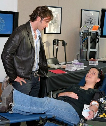 Alex & a blood donor