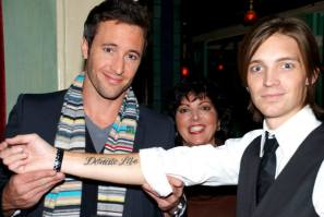 Alex and Alex Band, showing his Donate Life tattoo