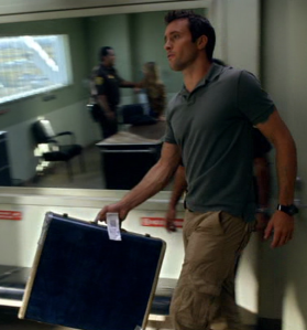 Steve with Mary's suitcase