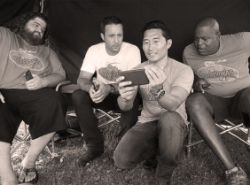 The boys relaxing onset and watching a YouTube video