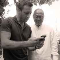 Alex and Iron Chef Morimoto