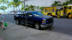 Steve's truck parked