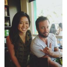 Alex at a coffee shop - June 2012