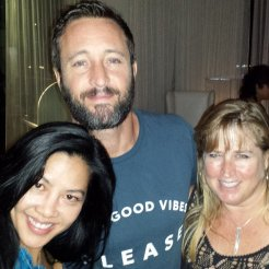 Alex with Pam Davis at Chef Morimoto's 6oth birthday party - 24 May 2015