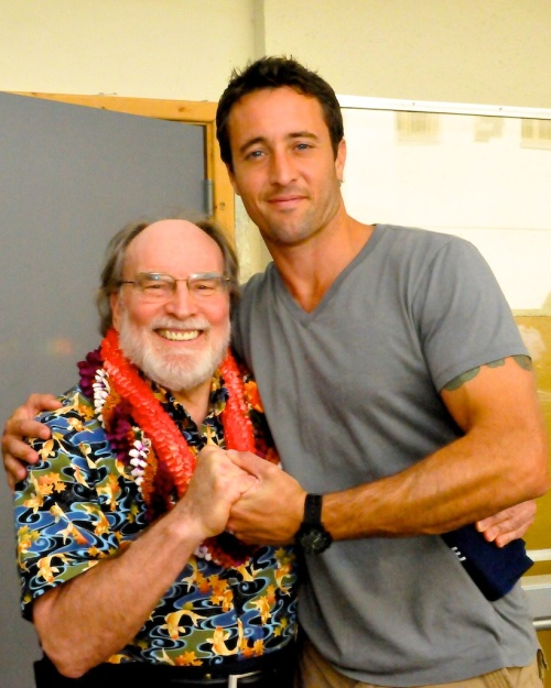 Photo from Governor Neil Abercrombie's visit to the Hawaii Five-0 set at the old state post office on King street on February 14, 2011. Photo by Ed Morita edmorita@me.com