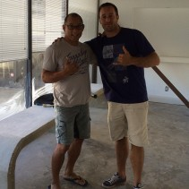 Alex & Egan working on the new gym - October 2013