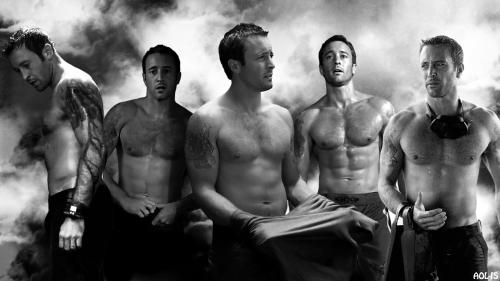 5 s shirtless bw mcg