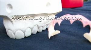 """Alex O'Loughlin's dental model and """"Moonlight"""" vampire teeth."""