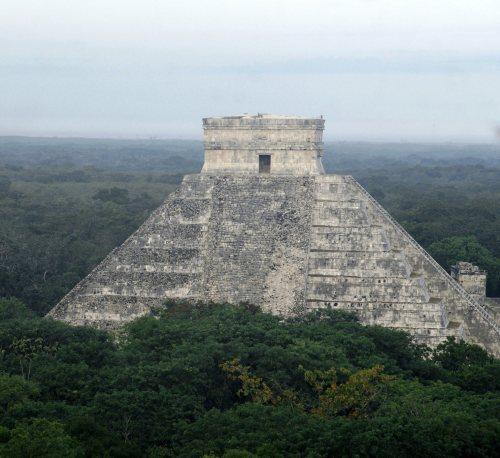 Chichen-Itza pyramids in Mexico's Yucatan peninsula