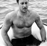 303 shirtless mcg bw