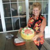Chris Hallett - birthday cake at Steve's house