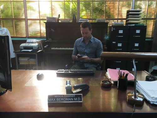 Alex on set - 10 Mar 2016