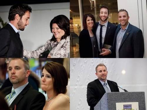 Meeting the parents (Todd & Tara) at Donate Life Awards in 2010