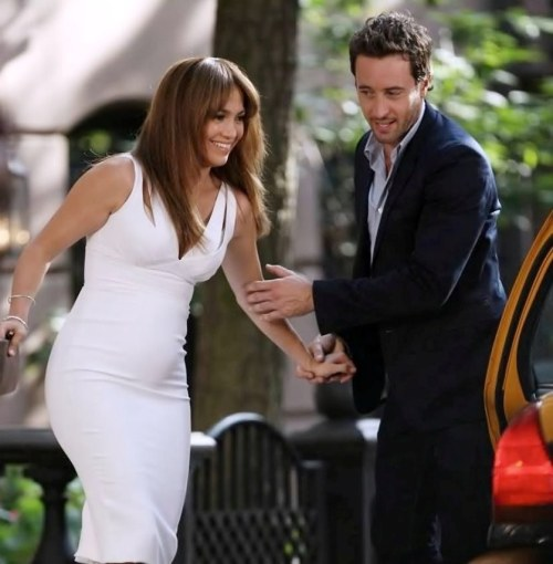 Alex & J.Lo filming The Back-up Plan