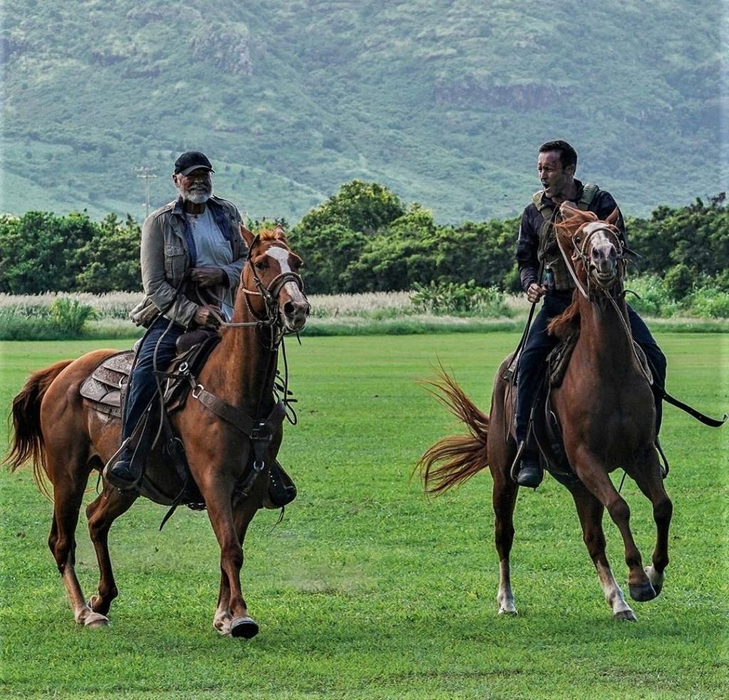 This image has an empty alt attribute; its file name is joe-and-steve-on-horses.jpg